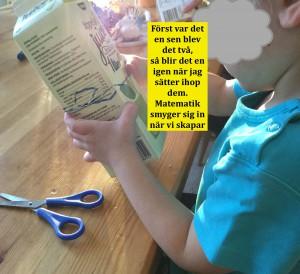 Mattematik i alla dess former uppmärksammar vi barnen på när den blir en del av aktiviteten.